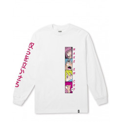 HUF : MAKE EM CRY PT2 LONG SLEEVE TEE
