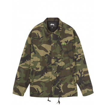 STÜSSY : CAMO CRUIZE COACH JACKET