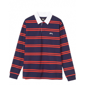 STÜSSY DESMOND STRIPE LONG SLEEVE RUGBY