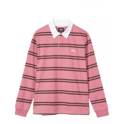 STÜSSY DESMOND STRIP LONG SLEEVE RUGBY