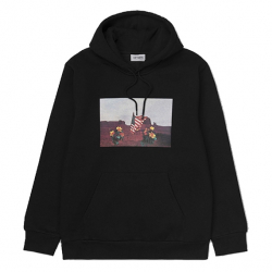 CARHARTT W.I.P : HOODED MATT MARTIN FLAGS SWEATSHIRT