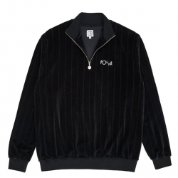POLAR : VELOUR ZIP NECK SWEATSHIRT