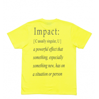 "IMPACT : DEFINITION TEE ""LEMON"""