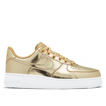 NIKE : WMNS AIR FORCE 1 SP METALLIC GOLD