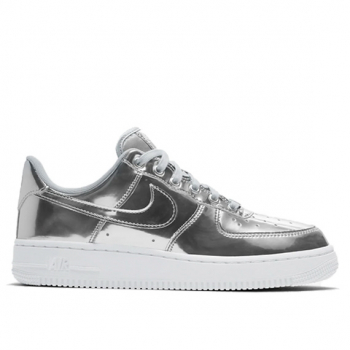 NIKE : WMNS AIR FORCE 1 SP METALLIC SILVER