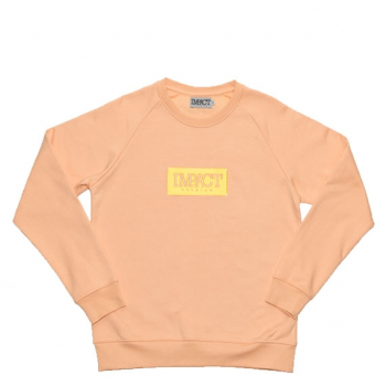 "IMPACT : BOX LOGO CREWNECK ""PEACH"""