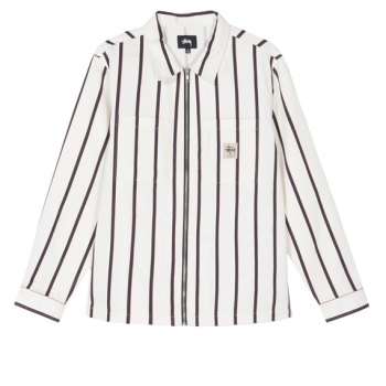 STÜSSY : STÜSSY ZIP UP WORK SHIRT
