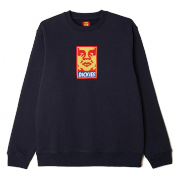 OBEY X DICKIES : HEAVYWEIGHT CREWNECK