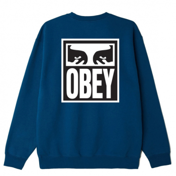 OBEY : EYES ICON II BOX FIT CREWNECK