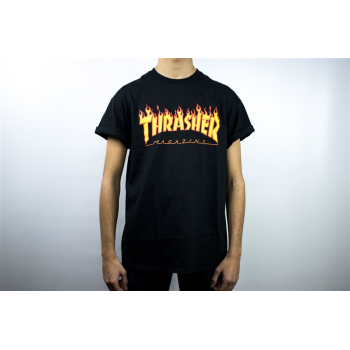 THRASHER : T-SHIRT FLAME LOGO