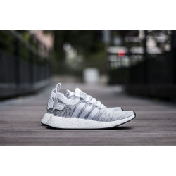 "ADIDAS NMD_R2 PRIMEKNIT ""WHITE/LIGHT GREY"""
